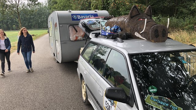 De caravans staan al klaar - fotograaf: RTV Oost / Madelien Jansen
