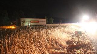 Vrachtwagen veroorzaakt bermbrand