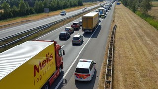 File op A1 richting Deventer