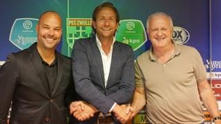 De nieuwe commercieel directeur Edwin Peterman met Adriaan Visser en Gerard Nijkamp