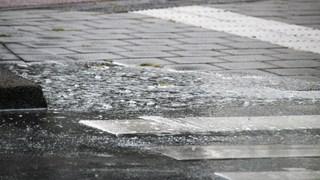 In Kampen zorgde de regen wél voor overlast