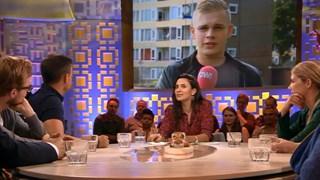 Wilfred Genee vertelt aan presentator Moussaid over de stap van Schouten