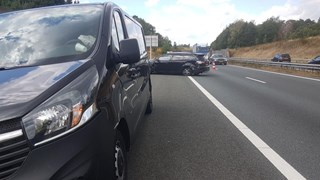 Ongeluk auto busje A1
