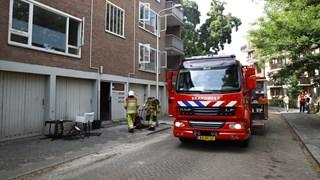 Brand gesticht in leegstaande flat in Zwolle