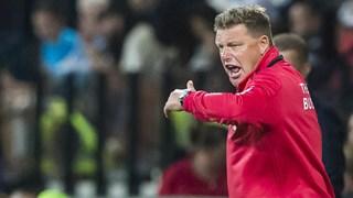John Stegeman tijdens het duel met Jong FC Utrecht