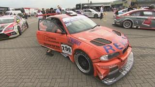 De BMW van het duo Schreurs/Van de Maat