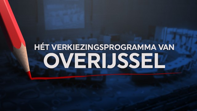 Het verkiezingsprogramma van Overijssel - fotograaf: RTV Oost