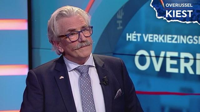 Lijsttrekker Fred Kerkhof van 50PLUS over gratis o - fotograaf: RTV Oost