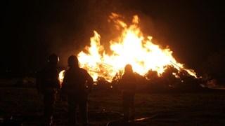 De brandweer heeft de vlammen in Scheerwolde gedoofd