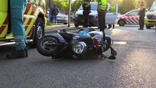 De scooter die betrokken is bij de aanrijding