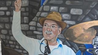 Lemelerveldse maakte schilderij van overleden Normaal drummer Jan Manschot