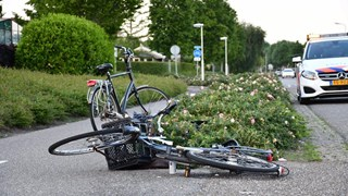 Fietsers ten val in Vroomshoop