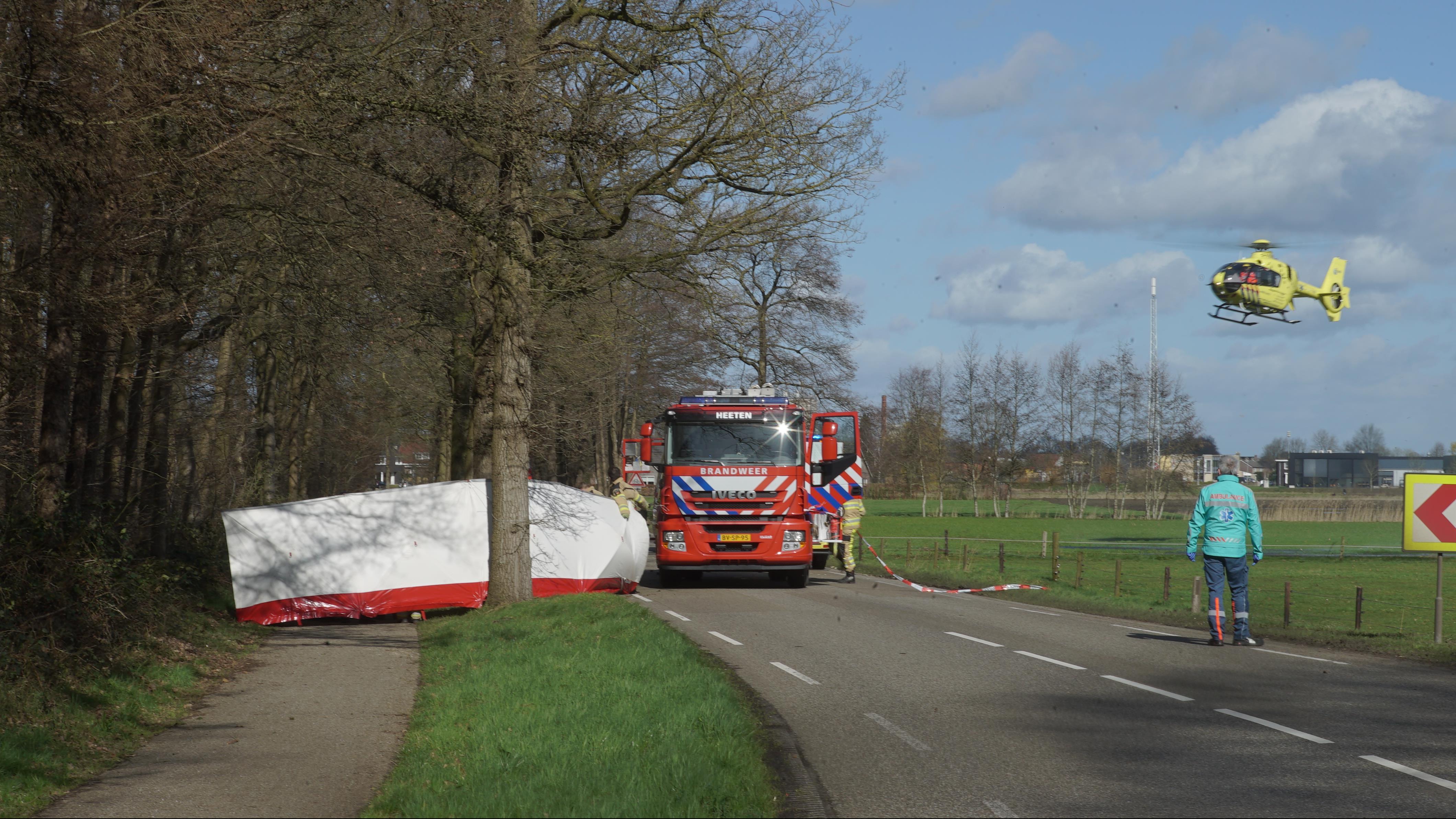 Automobilist overleden na eenzijdig ongeval bij Heeten.