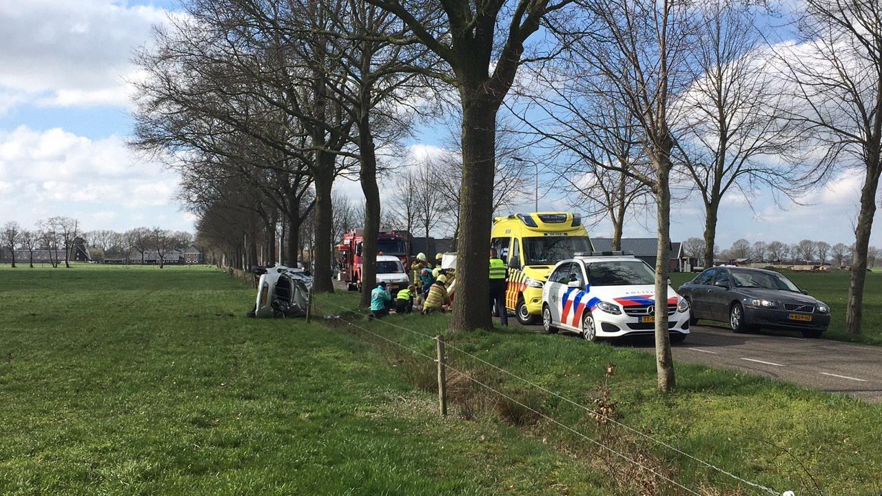 Twee gewonden bij aanrijding in Staphorst.