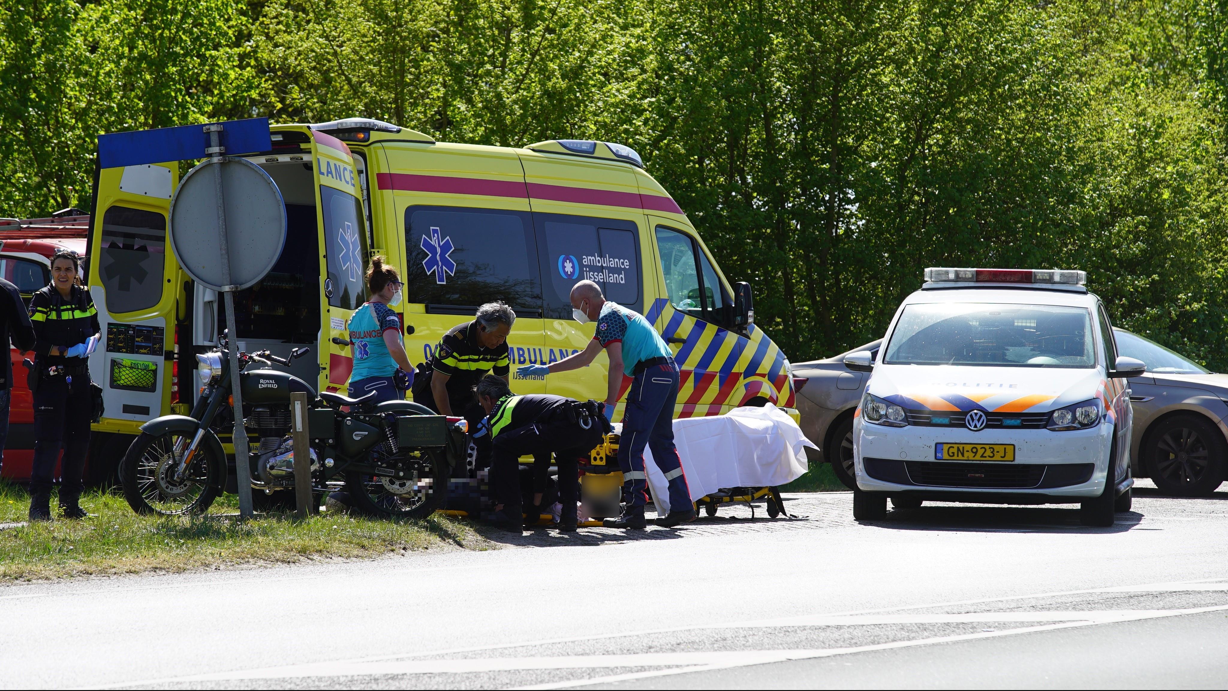Motorrijder gewond bij ongeluk bij Deventer.