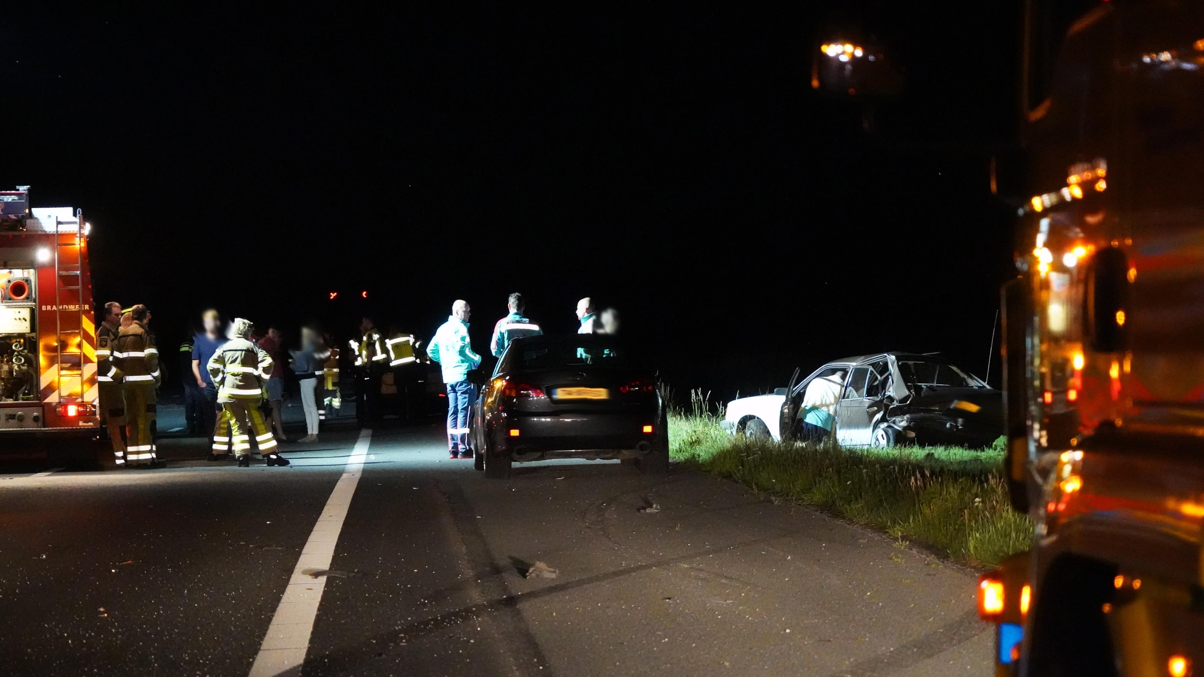 A28 tussen Rouveen en Staphorst afgesloten geweest na ongeluk.
