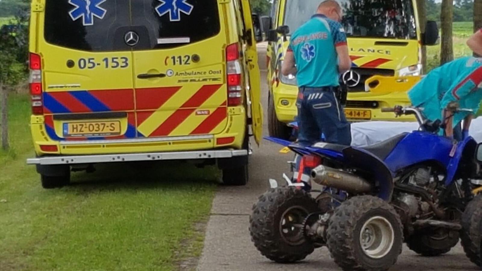 Bestuurder quad gewond na ongeluk in Geesteren.