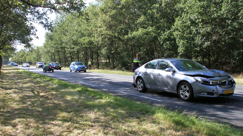 Forse file op N35 bij Wierden door ongeluk.