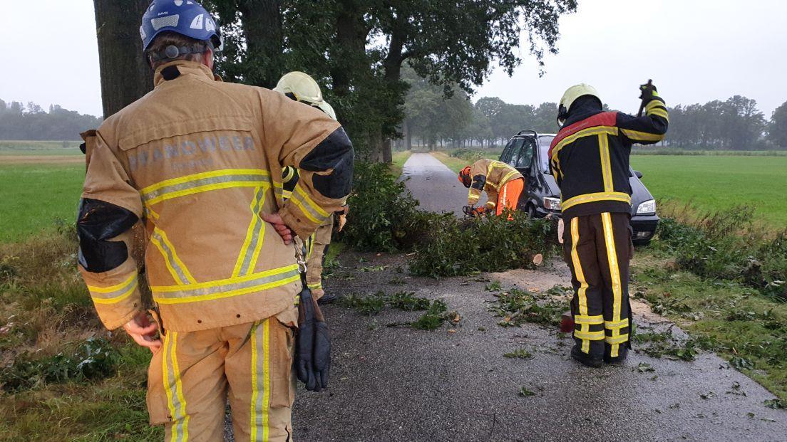 Storm Francis raast over Overijssel: stormschade en een ongeluk.