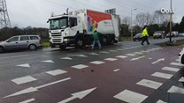 Frontale botsing in Enschede