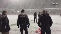 Winterse omstandigheden in Deventer