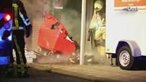 Brand bij supermarkt in Daarle, woningen ontruimd