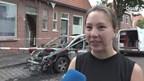Slachtoffer autobrand kon net op tijd uit huis komen