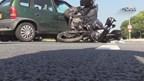 De motorrijder is zwaargewond naar het ziekenhuis vervoerd