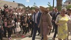 Koningin Máxima vertrekt bij de Performance Factory