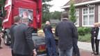 Truckers eren verongelukte vrachtwagenchauffeur met bijzondere rouwstoet