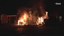 Hoge vlammen bij brand in Losser