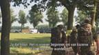 Nijmeegse Vierdaagse: bepakte militairen in de mars