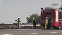 Bermbrand op de A1 bij Rijssen