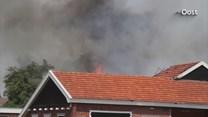 Uitslaande brand in schuur Geesteren