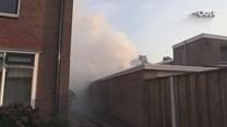 Brandweer rukt uit voor schuurbrand in woonwijk Losser