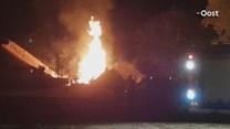 Metershoog vuur bij boerderij in Weerselo
