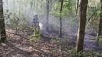 Zo'n 100 vierkante meter ging in vlammen op