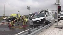Ravage na ongeluk op N18 bij Enschede