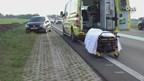 Auto van de weg in Gramsbergen