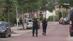 Een arrestatieteam arresteerde de verwarde man in Enschede