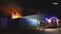 Zeer grote brand bij papierrecyclingbedrijf in Staphorst